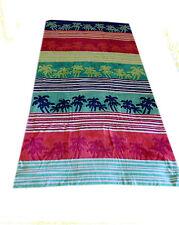 Home Accents Fresh Aqua Linear 100% Cotton Soft Palm Beach Towel 100 x180cm