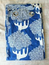 Ikea Blue White Kajsamia ONE SINGLE Grommet Curtain Panel