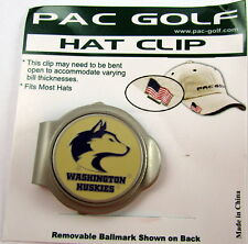 PAC Golf Hatclip w/ Ballmark Ball MarkBallmarker NCAA WASHINGTON HUSKIES Tan Dog