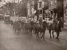 1910s CABINET PHOTO PAIR WORLD WAR 1 ERA DOUGHBOY MILITARY FUNERAL