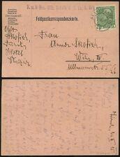AUSTRIA 1915 POSTCARD FIELDPOST + 5h MILITARY SCHOOL ALA KUFSTEIN...in SHORTHAND