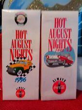 Hot august nights reno 1986- 1996 _ 1995 COCA COLA BOTTLES set of 2 .