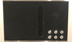 "Kitchenaid KECD867XSS Architect Series II 36"" Downdraft Electric Cooktop 5 Brner"