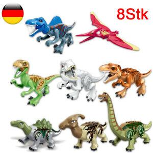 8x Dinos fit Jurassic World für LEGO Dinosaur Tyrannosaurus TRex Park Raptor Toy