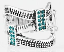Paparazzi Jewelry ~ Urban Upscale ~ Silver & Blue Shimmering Rhinestones Ring