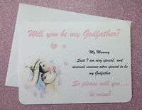 HANDMADE PERSONALISED Will You Be My Godmother/Godfather/Godparents Request CARD