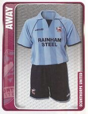 299 AWAY KIT ENGLAND SCUNTHORPE UNITED STICKER FL CHAMPIONSHIP 2010 PANINI