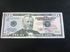 $50 USA STAR *** NOTE US FIFTY DOLLARS