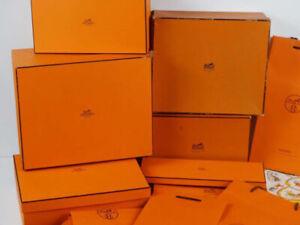 Authentique boîte cadeau Luxe HERMES Paris orange NEUVE