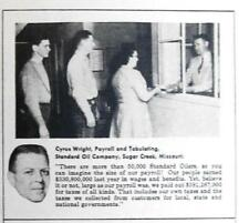Original 1956 Standard Oil Photo Endorse Ad Cyrus Wright of Sugar Creek Missouri