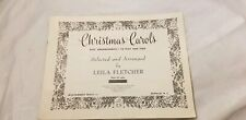 CHRISTMAS CAROLS  Vintage Easy Arrangements 1953 Holiday 21 Songs Collection
