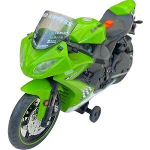 Toy State Kawasaki Ninja Zx-10r Road Rippers Toy Wheelie Bike Green NOT WORKING
