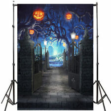 5x7FT Halloween Photo Backdrop Horror Pumpkin Castle Photography Background Hot