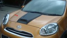 Fit For Nissan March 2010-2012 Matte Black Front Bonnet Hood Scoop