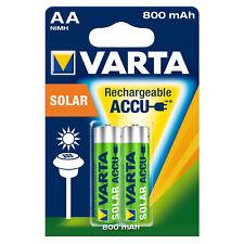 Varta Accu Akku Solar 800mAh AA Wiederaufladbar Rechargeable Sonnenlicht 2er Bl