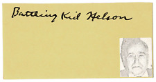 Battling Kid Nelson signed autographed index card! RARE! JSA LOA! AMCo!