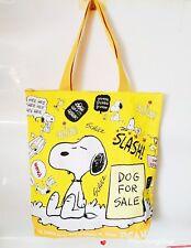 Cute Women Girl Snoopy Peanuts Fiberflax  Food Fruit Shopping Bag Handbag Yellow