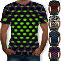 Funny Hypnosis 3D T-Shirt Men Women Colorful Print Casual Short Sleeve Tee Tops#
