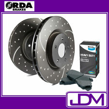 FORD FALCON BF XR6 TURBO, XR8 RDA SLOTTED Front brake Rotors & BENDIX HD Pads