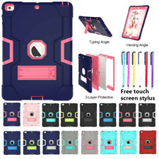 Shockproof Heavy Duty Silicone With Hard Stand Case Cover For iPad Air Mini Pro