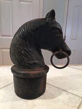 Antique Circa 1800s Cast Iron Horse Head Hitching Post