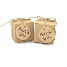 Gift Box 50pc With ThankYou Tag Kraft Wedding Favors Baby Shower Chocolate Boxes