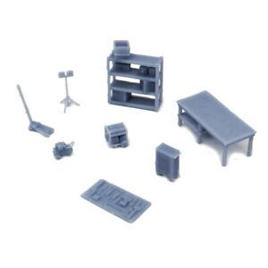 Outland Models Railway Scenery Garage Accessories Set 1:87 HO Scale