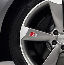 6 x Audi S-line Aufkleber für Räder A1 A3 A4 A5 A6 A8 RS TT Q5 Q7 Emblem Logo A