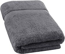 Soft Cotton Machine Washable Extra Large Bath Towel (35-Inch-by-70-Inch) , Gray