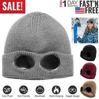 Unisex Cuff Beanie Hat Men Women Winter Warm Acrylic Plain Knit Cap 4 Colors