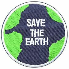 Save the Earth World Energy Love Peace Planet Nature Map Iron-On Patches #0822