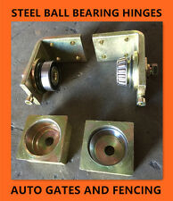 Heavy Duty Punch In Ball Bearing Steel Hinges up to 650kgs - for 65x65 Post SHS