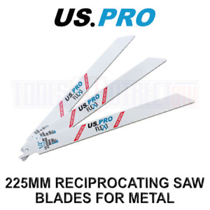 US PRO Tools 5 X 225MM Reciprocating Saw Blade For Metal US1122BF 9136