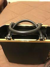 Michael Kors Black Leather Lana Medium Convertible Tote