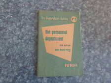 VINTAGE THE SUPERVISORS GUIDES #5 , PERSONNEL DEPT BY JOHN MUNRO FRASER - PITMAN