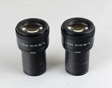 Un paio di grandi dimensioni Leica Microscopio Oculare L piano 10X/25 M 506800 1150 6800