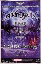 WINTERSUN / FLESHGOD APOCALYPSE 2014 SAN DIEGO CONCERT TOUR POSTER -Finland Rock
