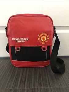 Vintage Manchester United 80s Football Messenger Shoulder Day Bag Sports Bag