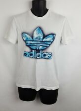 Adidas Trefoil T Shirt Small Ice Berg Crystal White Crew Neck Icy Big Logo C1