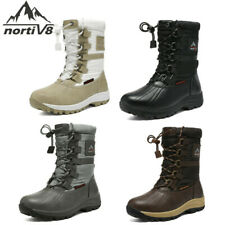 NORTIV 8 Women's Mid Calf Waterproof Insulated Winter Faux Fur Warm Snow Boots