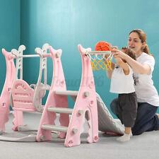 Playground Swing Kids Slide Basketball Hoop Set Baby Toddler Indoor Play Center