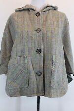 PAUL & JOE Cape Jacket Poncho Coat Poncho S/M Two Pocket Button Hoodie Tan D3