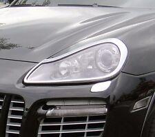 IDFR Porsche Cayenne 2006-2010 chrome front lamp frame, head lamp bezel