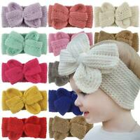 Baby Kids Delicate Headband Crochet Knitted Bow Turban Hair Kids Hair Band