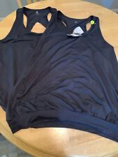 C9 Champion Women Plus Sz 2x Tank Top Solid Black Athletic Work out Duo Dry