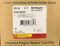 SQUARE D HOMELINE HOM120PDF HOM120PDFC 20A DUAL FUNCTION PLUG IN BREAKER NEW