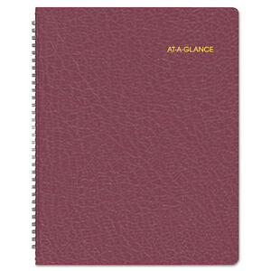 AT-A-GLANCE 7026050 Monthly Planner, 8 7/8 x 11, Winestone, 2016-2017