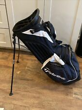 TaylorMade 14 Way Stand Golf Bag - Back /White.