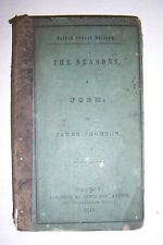 THE SEASONS Poem.  By James Thomson. 1844 Lewis & Sampson. Boston School Edition