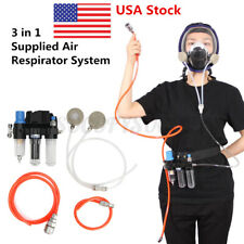3 in 1 Safety Spray Paint Supplied Air Fed Respirator System For Gas Mask series